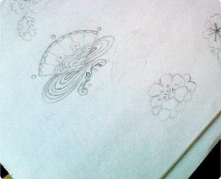 fan pattern sketch