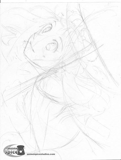 floating sakura rough for book 2